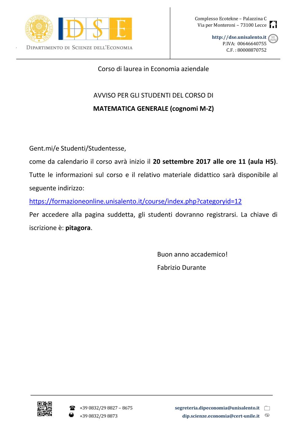 Calendario Accademico Unisalento.Attivita Socio Culturali Universita Del Salento